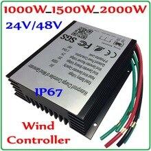 1000W_1500W_2000W ветрогенератор контроллер заряда 48V 24V ветряной генератор регулятор заряда аккумулятора Водонепроницаемый IP67