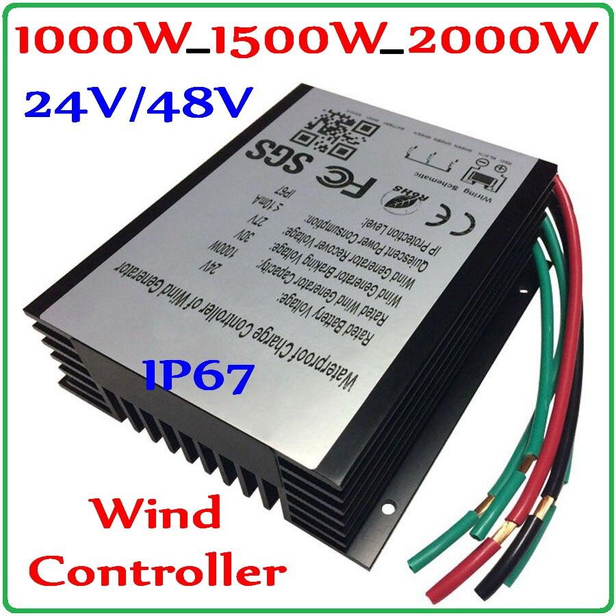 1000W_1500W_2000W Contrôleur de Charge de Générateur De Vent 48 v 24 v Éolienne Générateur Régulateur Régulateur de Charge Étanche IP67