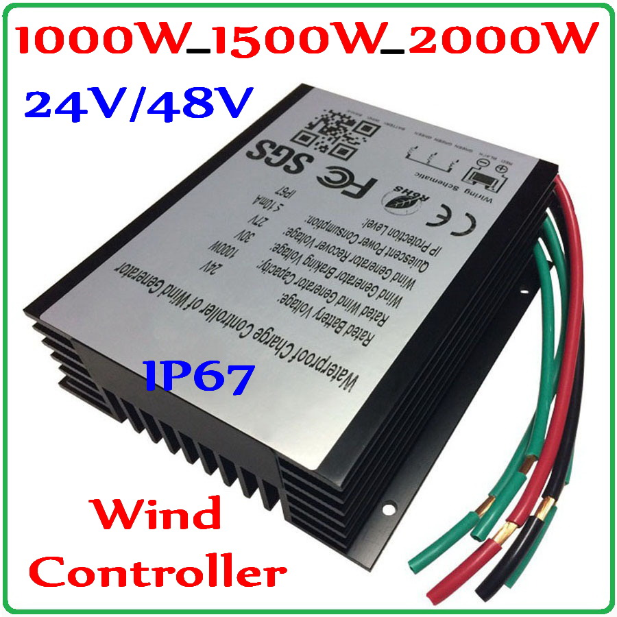 1000W_1500W_2000W Wind Generator Charge Controller 48V 24V Wind Turbine Generator Regulator Charge Controller Waterproof IP67 free shipping 600w wind grid tie inverter with lcd data for 12v 24v ac wind turbine 90 260vac no need controller and battery