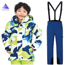 купить Kids Winter Ski Sets Children Snow Suit Coats Ski Suit Outdoor Boys Skiing Snowboarding Clothing Waterproof Jacket + Pants в интернет-магазине