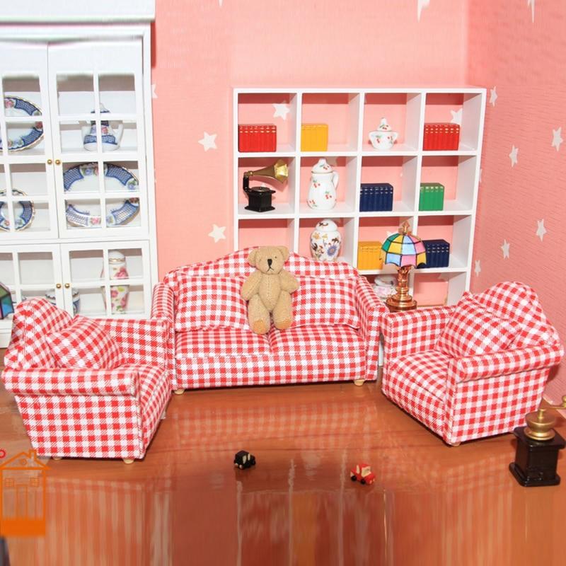 Miniature Plaid Ceiling Light Hanging Lamp for 1:12 Dollhouse Kitchen Decoration