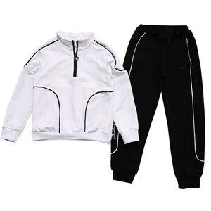 Image 5 - İlkbahar sonbahar erkek giyim seti 2019 çocuk eşofman uzun kollu tişörtü + pantolon giyim setleri genç spor takımları 4 12T