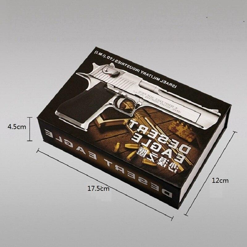 1/2. 05 modèle en métal aigle du désert pour enfants modèle en métal aigle du désert Pistola De Juguete ne peut pas tirer