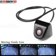 Koorinwoo динамическая траектория движущаяся Направляющая линия HD CCD автомобильная парковочная камера Автомобильная камера заднего вида широкоугольная реверсивная помощь