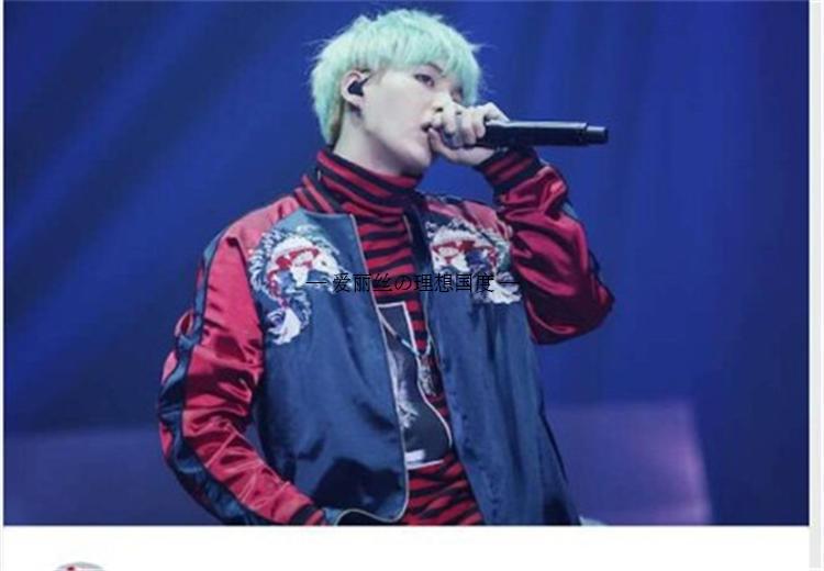 Kpop BTS SUGA Bangtan Boys stickerei lose baseball hoodies korea liebhaber Frühling herbst Casual Harajuku k-pop V baseball mantel