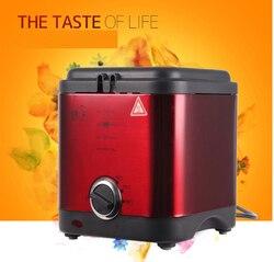 2L  smokeless mini electric frying pan DIY  fryer Detachable blasting net intelligent operation children healthy breakfast