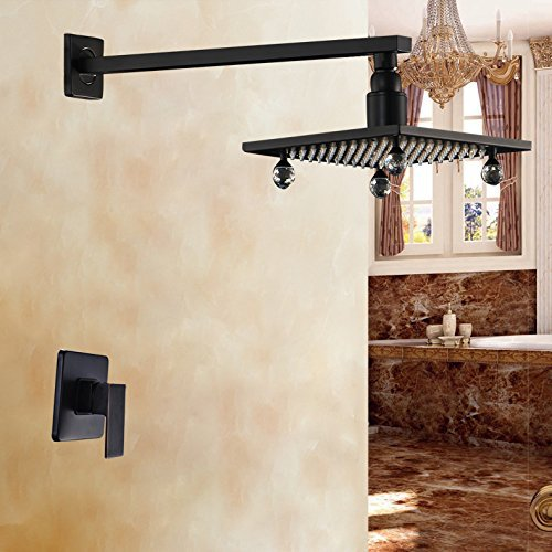Oil Rubbed Bronze Single Handle Mixer with 8 Square Rainfall Shower Head