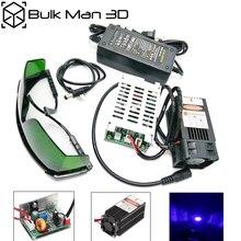 15W tête laser 450nm 15000mW 12V haute puissance TTL réglable Focus bleu Module Laser bricolage Laser graveur accessoires