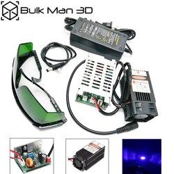 Głowica laserowa 15W 450nm 15000mW 12V High Power TTL regulacja ostrości moduł lasera niebieskiego DIY akcesoria do grawerowania laserowego
