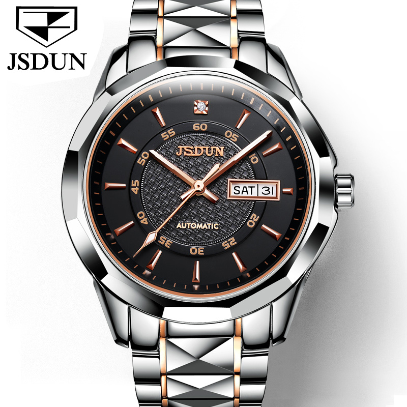 JSDUN Mens Watches Top Brand Luxury Full Steel Automatic Mechanical Men Watch Classic Male Clocks High Quality Sport WatchJSDUN Mens Watches Top Brand Luxury Full Steel Automatic Mechanical Men Watch Classic Male Clocks High Quality Sport Watch
