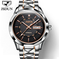 JSDUN Mens Watches Top Brand Luxury Full Steel Automatic Mechanical Men Watch Classic Male Clocks High Quality Sport Watch