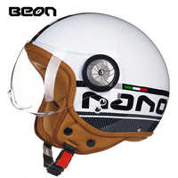Free shipping Motorcycle Vintage helmet Motorbike motorcross Jet Casco Capacete open face 3/4 half helmet MOMO helmet BEON B110