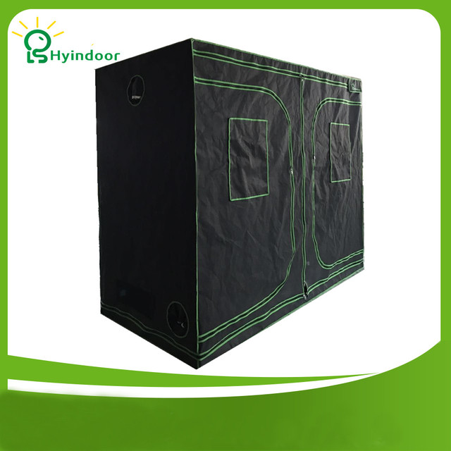 Hyindoor Garden Supplies Greenhous Aluminium Frame 240*120*200(96*48*78 Inches)Mylar Grow Tent Hydroponics Greenhouses