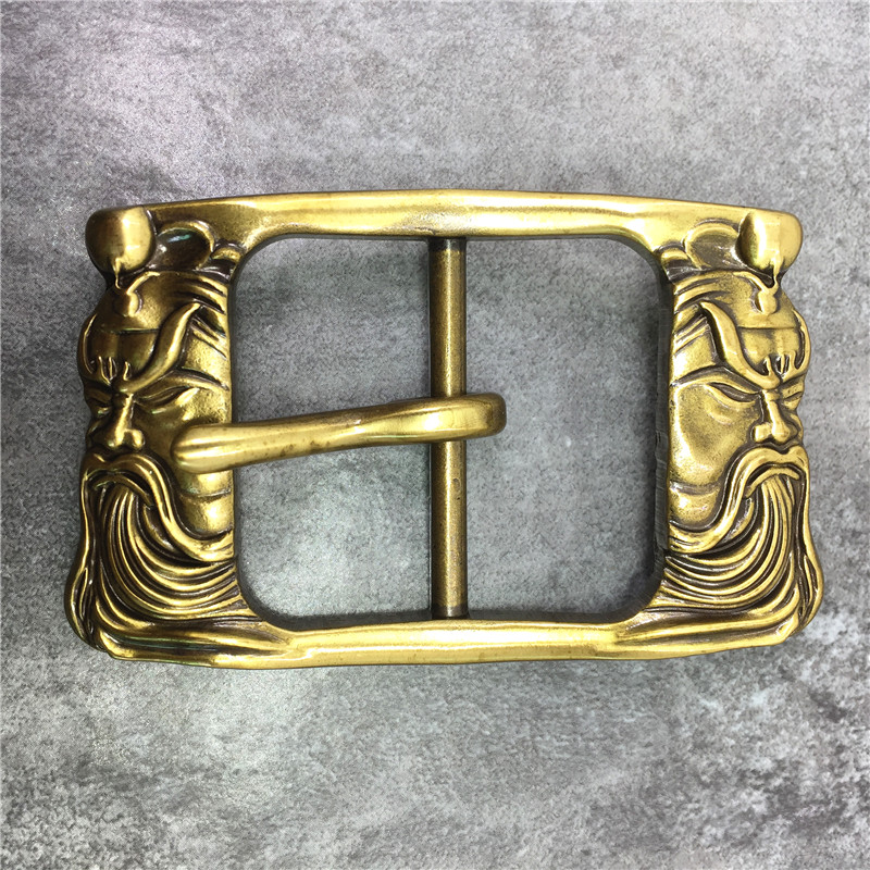 Chinese Style Brass Belt Buckle Classical Guan Yu Belt Buckle High Quality Belt Buckle For Man Belt Leather Bk0115 We Have Won Praise From Customers Home