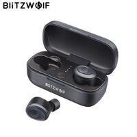 Blitzwolf BW-FYE4 bluetooth V5.0 СПЦ True Беспроводной наушники + зарядка Hi-Fi стерео звук двусторонних вызовы Водонепроницаемый
