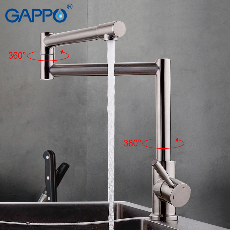 GAPPO water taps water mixer stainless steel mixer faucet kitchen sink faucet kitchen water mixer Top Quality 720 rotateGA4399-2 gappo waterfilter taps kitchen faucet mixer taps water faucet kitchen sink mixer bronze water tap sink torneira cozinha ga1052 8
