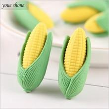 2PCS Korean Student Stationery Cute Realistic Corn Eraser For Pencil Super Rubber Detachable Erasers Kawaii YOUE SHONE