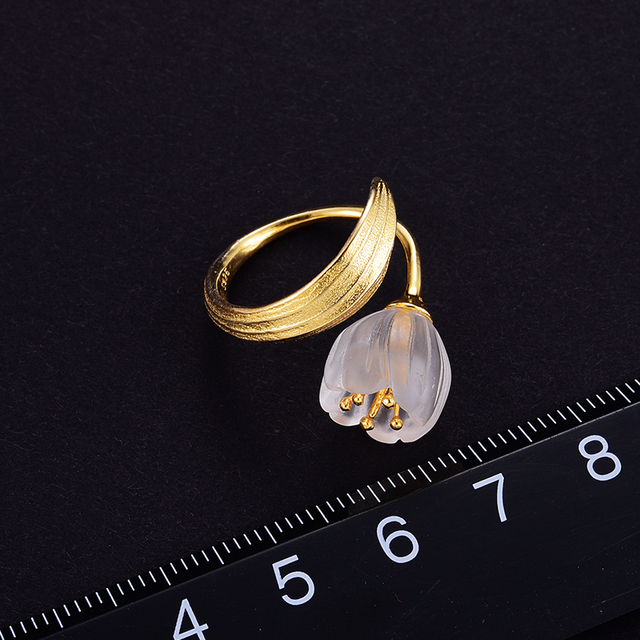 Natural Crystal Handmade Fine Flower Ring24
