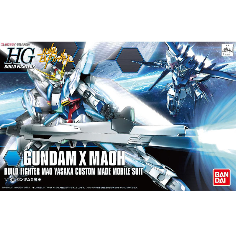 1 pcs Bandai HG Build Fighters HGBF 003 1/144 Gundam X Maoh Mobile Suit Assembly Model K ...