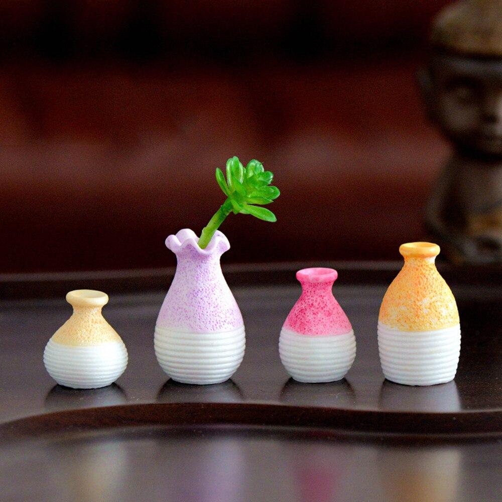 1 Pc Harz Miniatur Kleine Mund Vase Diy Handwerk Zubehör Home Garten Dekoration Ornament Micro Landschaft Fee Garten Blumentopf Delikatessen Von Allen Geliebt