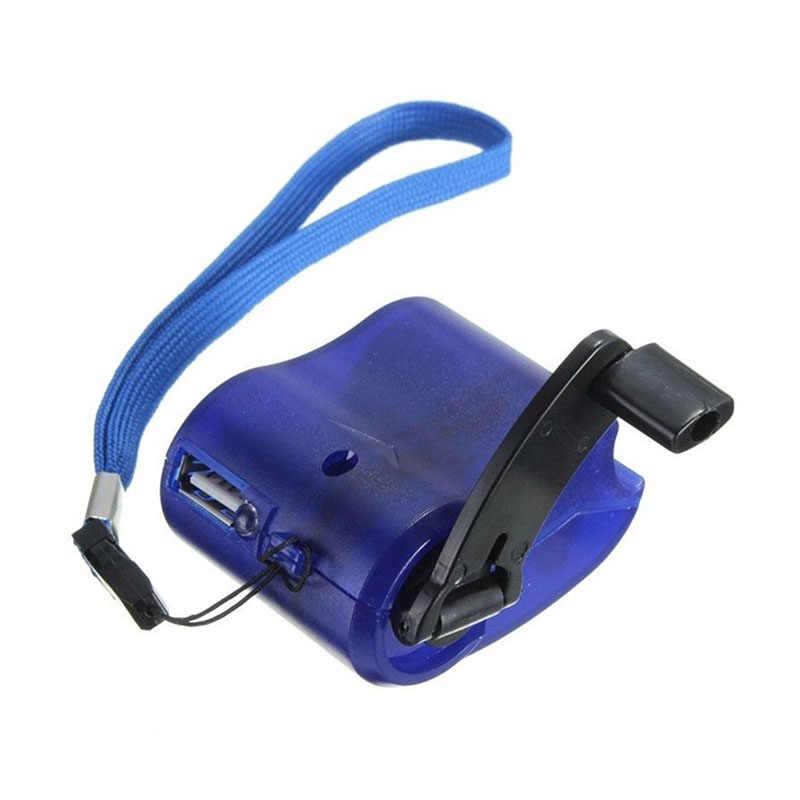 Charger USB ชาร์จฉุกเฉิน Crank Power แบบพกพาสำหรับกลางแจ้งโทรศัพท์มือถือ JR ราคาถูก