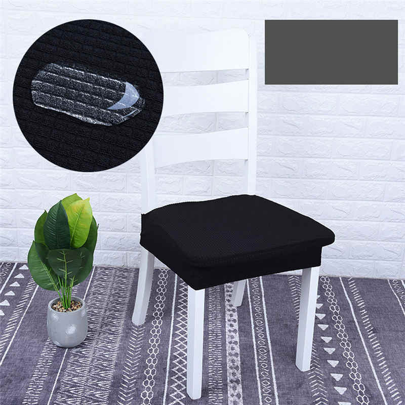 Chair Seat Covers Stretchable Dining Chair Cover Slipcovers Waterproof for  Dining Room Removable Office Chair Slip Cover