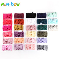 100pcs Cable Knit Nylon Bow Headwrap, One size fits all Baby headbands, wide nylon headbands, baby headbands, Knot bow headwear