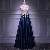 Real Image A Line Long Evening Dress Beadings Crystal Bodice Zipper Back Party Elegant 2019 Vestido De Festa New Prom Gowns