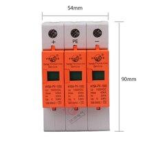 SPD DC 1000 в 800 в 500 в 3 P 20 ~ 40KA HYS4-PV-1000 стабилизатор напряжения защитное устройство Низкая напряжение дом 3 полюса стабилизатор напряжения