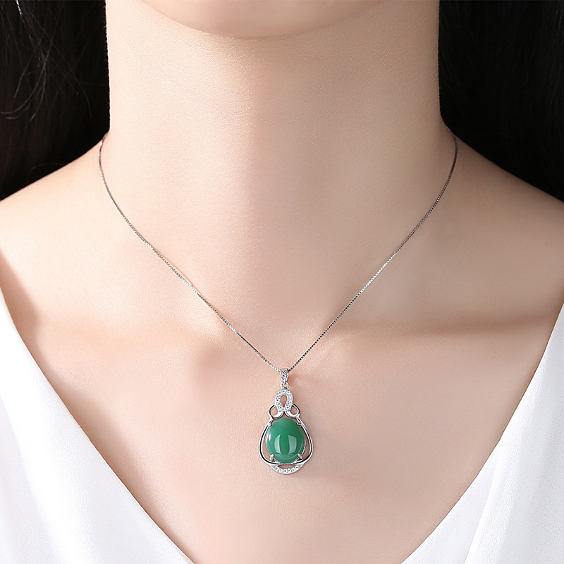 Collar de plata de la joyería de la marca 925 gotas colgante - Joyas - foto 5