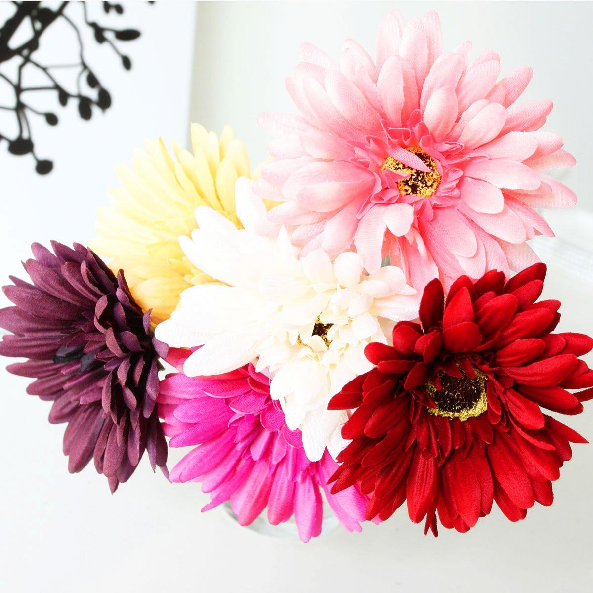 Summer Flowers Gerbera Artificial Flower Silk Flower Decoration
