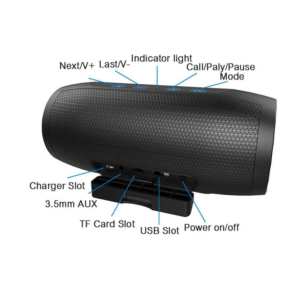 ZEALOT колонка с глубоким басом динамик беспроводная 3D стереозвуковая панель AUX TF карта играть на открытом воздухе Handsfree с микрофоном Touch control