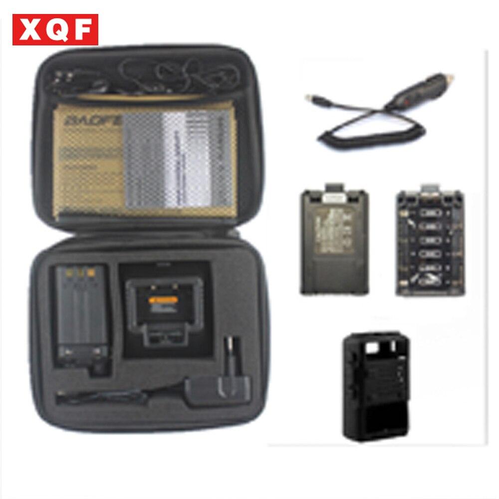 Baofeng UV-5R Vhf Uhf 136-174/400-520 MHZ radio à portée de main avec carring cas + batterie cas + voiture chargeur + étui souple + headfone