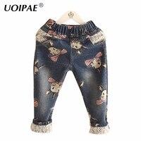 女の子のパンツ子供のジーンズ2018秋のファッション漫画ウサギレギンス用女の子シンプルな弾