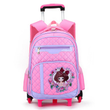 Children School Bags Removable With 6 Wheels Stairs Laptop Backpack For Business Travel Trolley Schoolbag Luggage