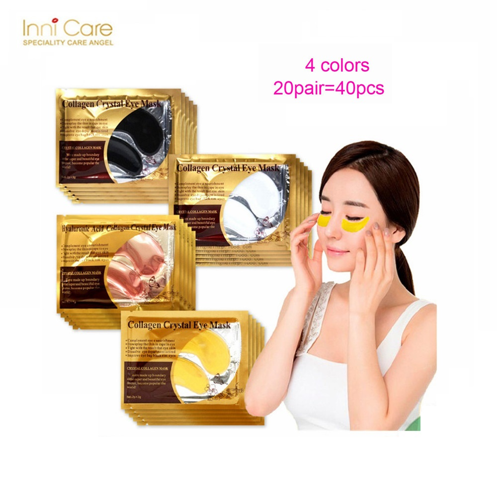 60pcs30packs Gold Crystal Collagen Eye Mask Sleeping Patch Masker Mata Colagen Cystal 40pcs20pairs Beauty 24k Patches Dark Circle Acne For