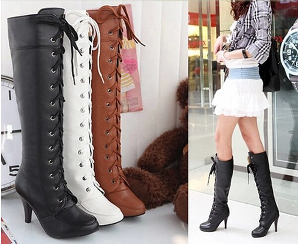 Free shipping! Fashion women long shaft riding/equestrian boots, Popular high heel lace-up boots for woman/lady,size 34-43,C23