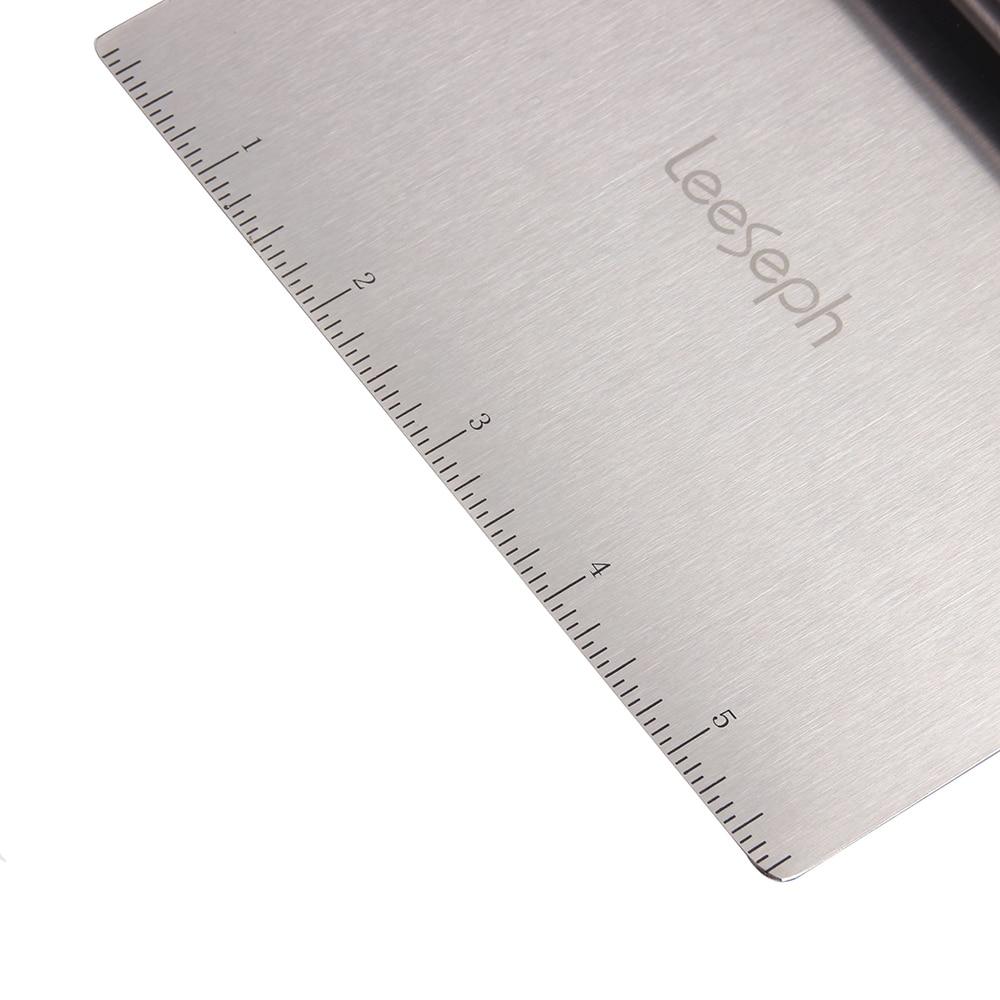 Raschietto e tritatutto multiuso in acciaio inossidabile Leeseph, raschietto per pasta, tagliapasta per Pizza, utensili da cucina 2