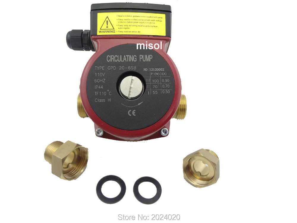 110v Brass circulation pump 3 speed, for hot water heating system, for solar water heater solar water heating in dragash municipality kosovo