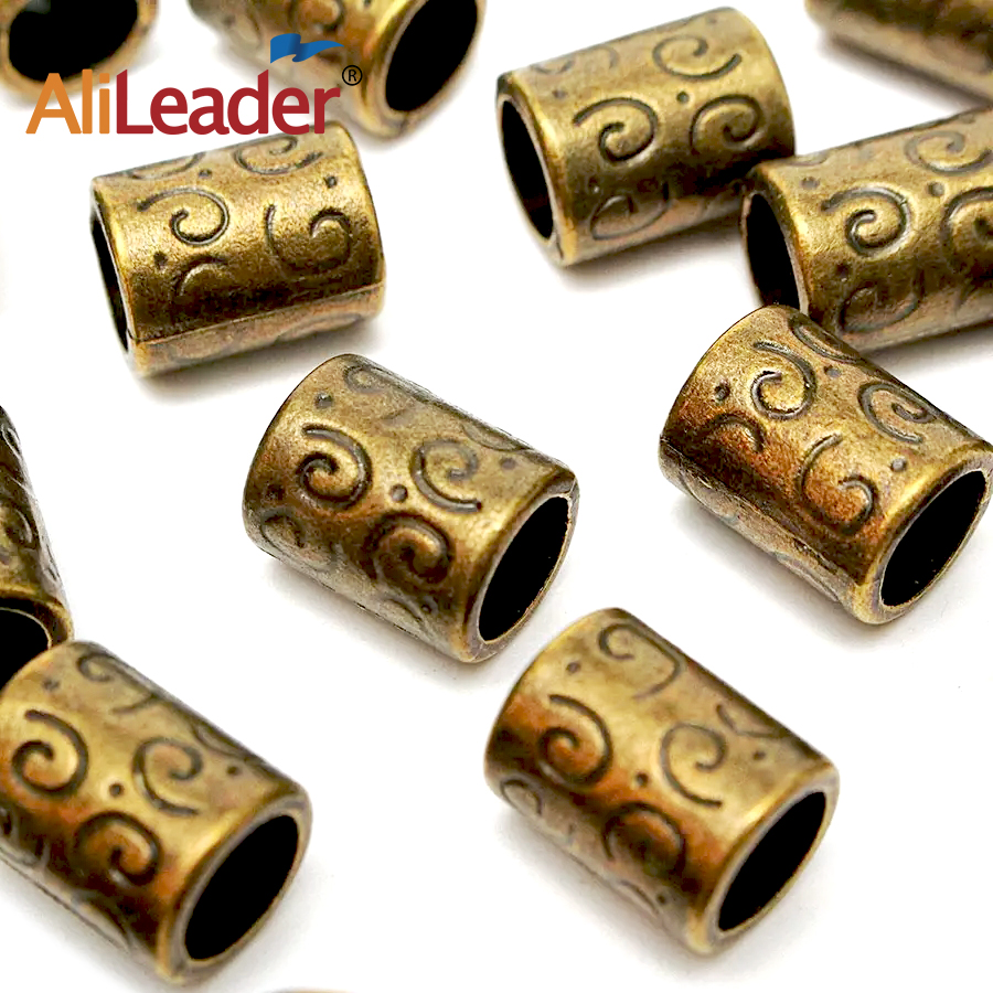 2018 Hot Selling Copper Bronze Dreadlock Dread Beads Hair Braid Tube Ring Cuff Clip 5mm  ...