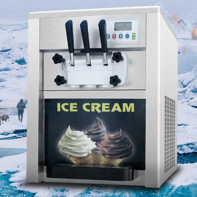 Commercial Frozen Yogurt Machine 3 Flavor Soft Ice Cream Machine