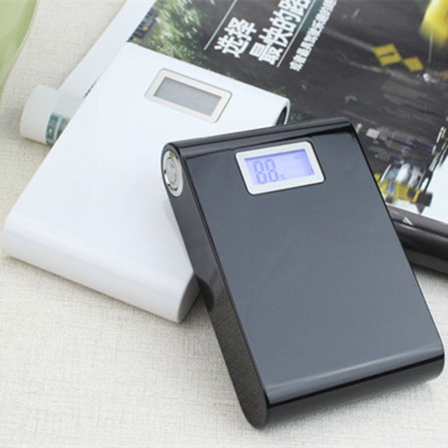 Envío gratis Potente lcd Cargador de Batería de Reserva Portable 12000 banco de potencia