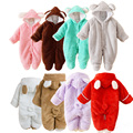 Newborn Warm Baby Clothes Animal Winter Clothing Thicken Romper Baby Climb Clothes Cotton-Padded Fleece Overalls Hooded Jumpsuit