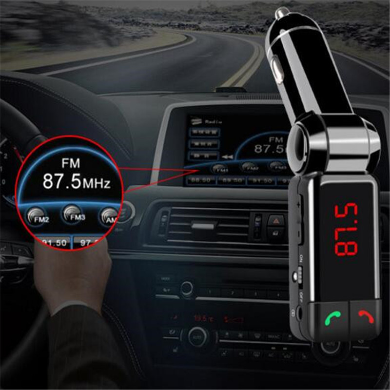 1 Pc Auto Ladegerät Dc12-24v Dual Usb Intelligente Led-anzeige Digital Display Port Adapter Zigarette Licht Hände-freies Bluetooth