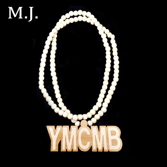 7da49d977ac Colar de moda Para As Mulheres Colares Bijuterias Hip Hop YMCMB Madeira  Carta Marca Colar de Pingente de Cadeia Longa Colar de Jóias Mulheres