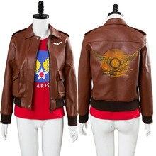 hot sale online ef0b8 2a098 Avengers Captain Marvel Carol Danvers Cosplay Kostüm U. s. air Force Jacke  T hemd
