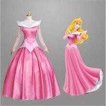 купить Free shipping adult Sleeping Beauty Aurora princess dress performs costume game uniform Princess playing Cosplay anime Costume дешево