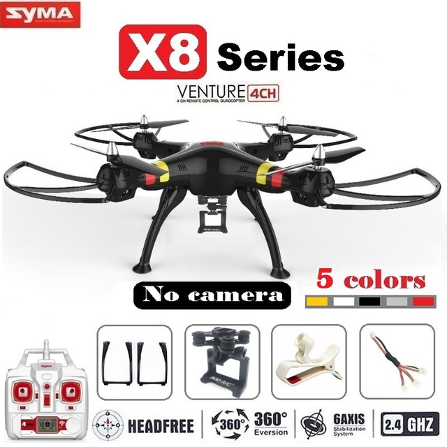 Syma X8 X8C X8W FPV RC Drone Quadcopter Without Camera Professional Dron With Holder For Gopro/SJCAM/Xiaoyi/Eken Action Camera