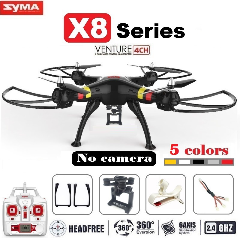 Syma X8 X8C X8W FPV RC Drone quadrirotor sans caméra professionnel Dron avec support pour Gopro/SJCAM/Xiaoyi/Eken caméra d'action