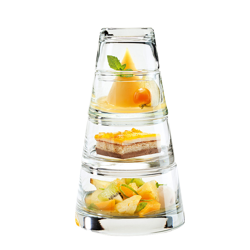 Creative Dessert Multi Layer Cup Glass Salad Bowl Western Restaurant Coffee Shop Dessert Bowl Set